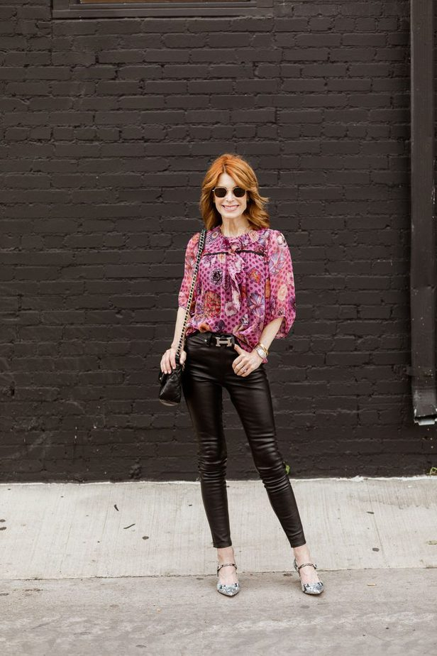 Coach blouse styled by Dallas blogger