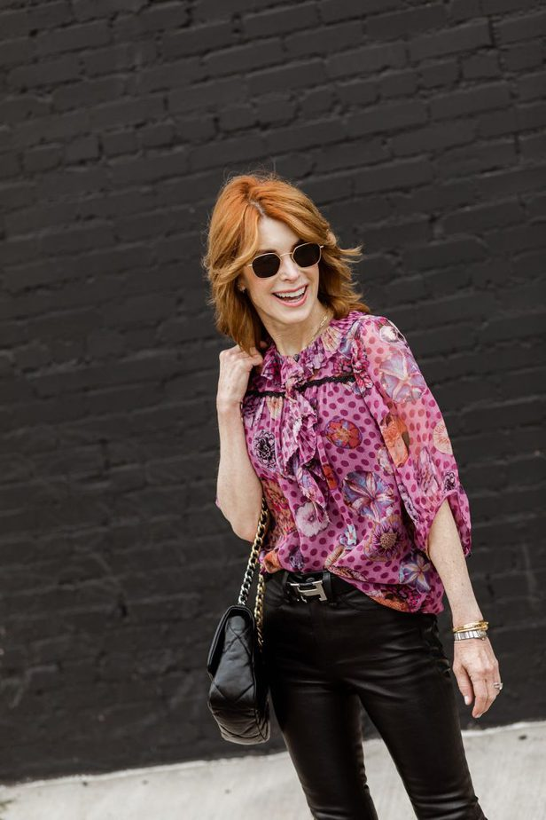 gorgeous Dallas blogger wearing coach top with Hermes belt and Chanel purse