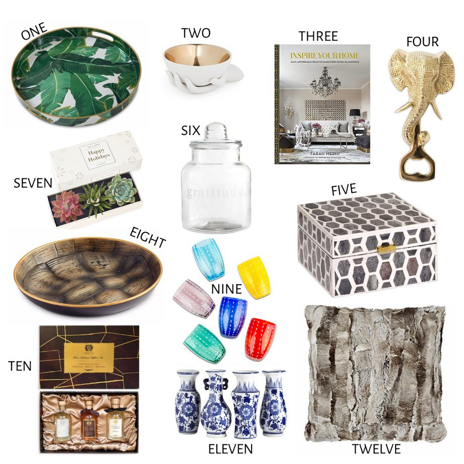 A Graphic of Cathy Williamson twelve picks as Gifts For The Homebody