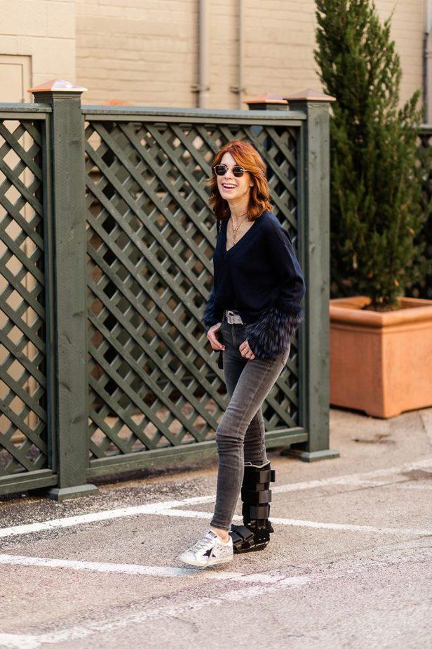 Dallas Blogger wearing Golden Goose sneakers