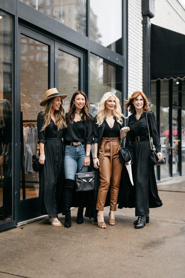Dallas Bloggers wearing Banana Republic Black Shirt Dress