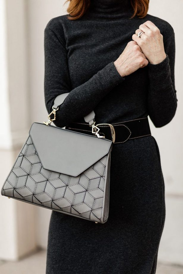 The Middle Page carrying Welden hexagon bag