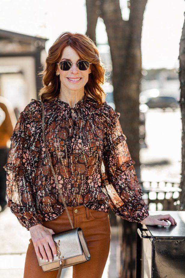 Over 50 Dallas Fashion Blogger wearing Ulla Johnson Top