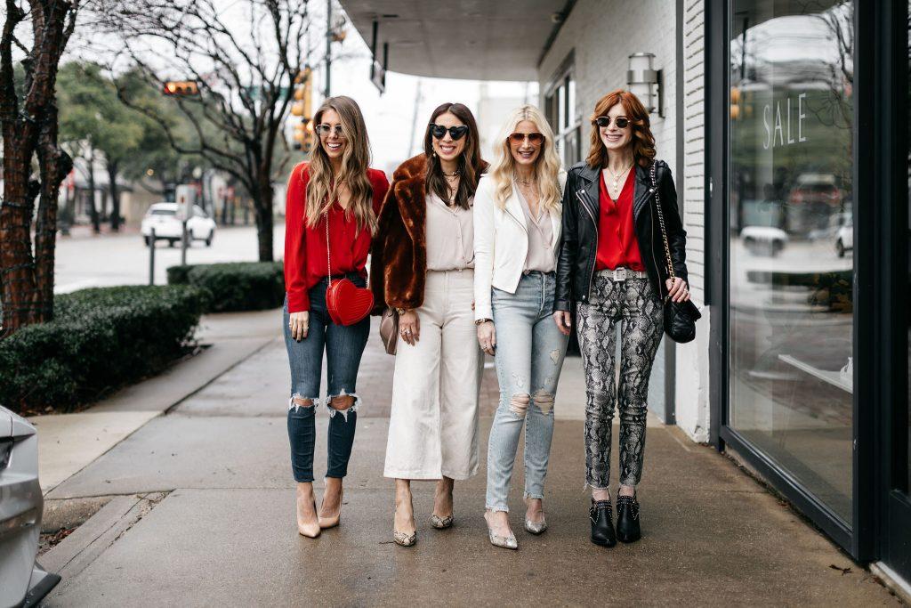 Dallas Fashion Bloggers wearing Valentine's Day Blouse Under $100