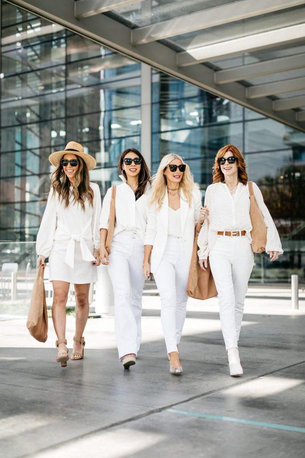 Dallas Bloggers wearing Diff Sunglasses and Shiraleah Arden Tote