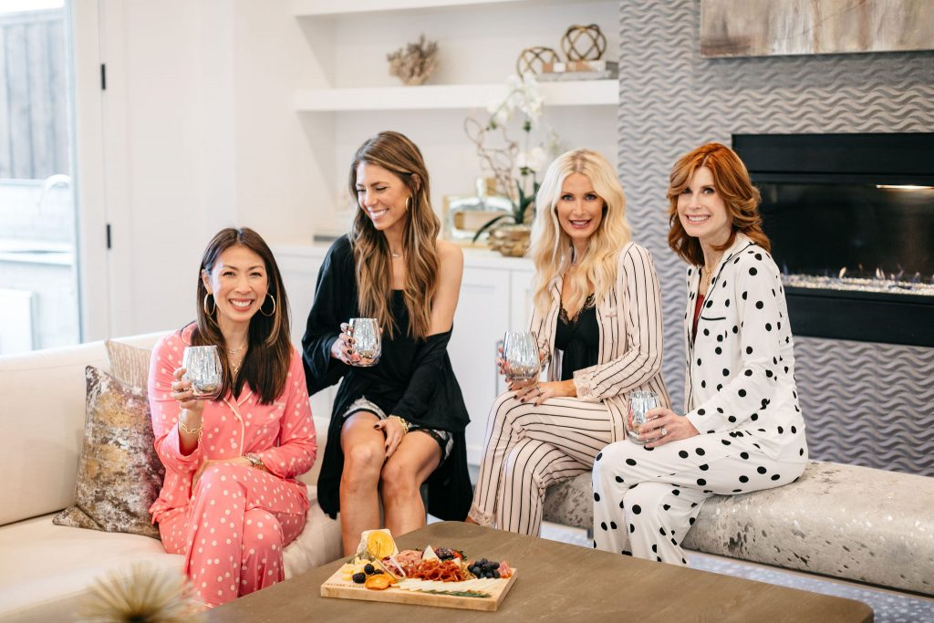 Cathy Williamson with Chic at Every Age Dallas Bloggers wearing Soma pajamas