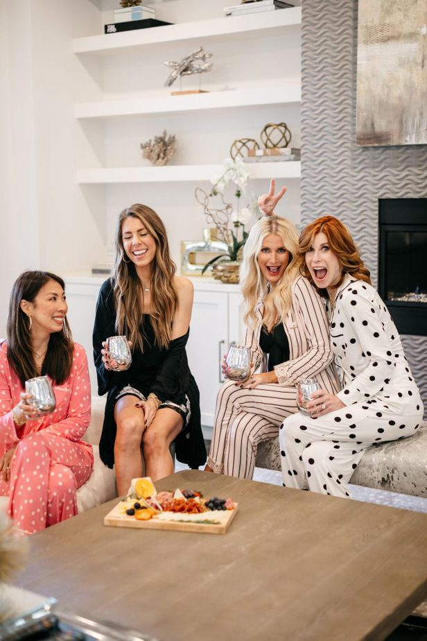 Dallas Fashion Bloggers Sam, Natalie, Heather, and Cathy wearing their favorite Soma pajamas!