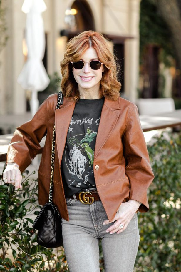 SPRING FAUX LEATHER JACKET