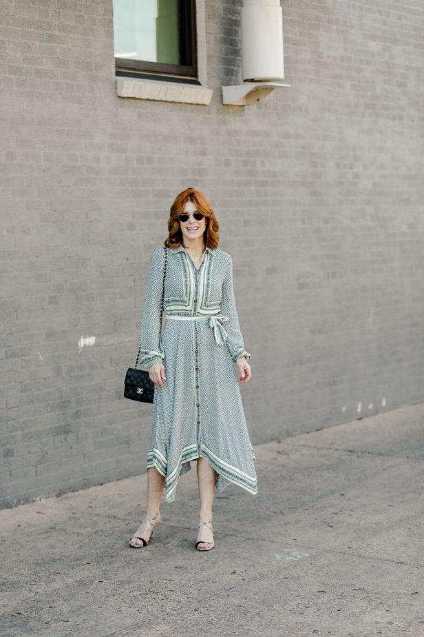 The Middle Page wearing Green Dress from Anthropologie