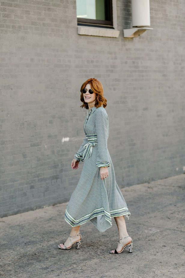 Green dress from Anthropologie