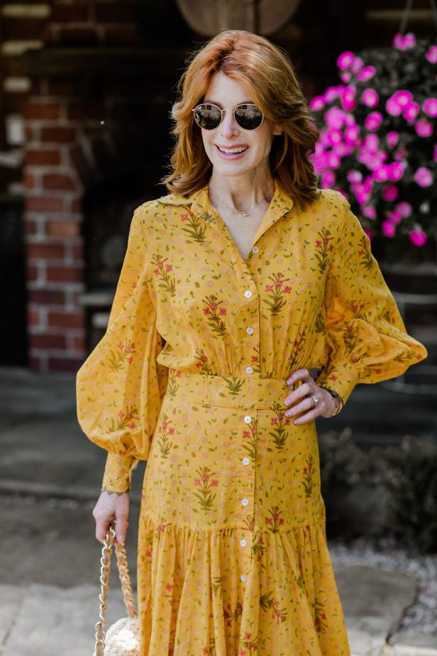 Over 50 Blogger in Tish Cox Floral Dress