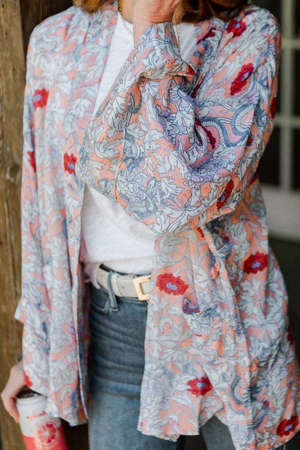 Floral Kimono Roller Rabbit on Dallas Blogger