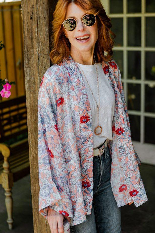 Dallas Blogger with Roller Rabbit Kimono