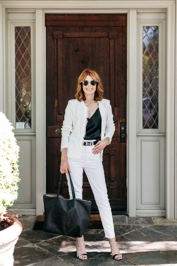 Black and White Look on Dallas Red Head Blogger