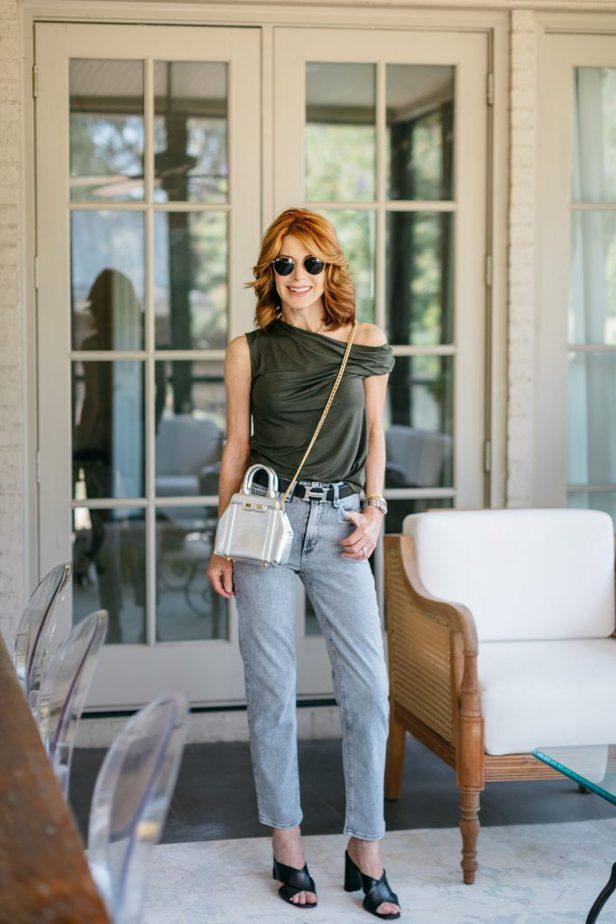 Dallas Blogger with Bene Italian Luxury Handbags
