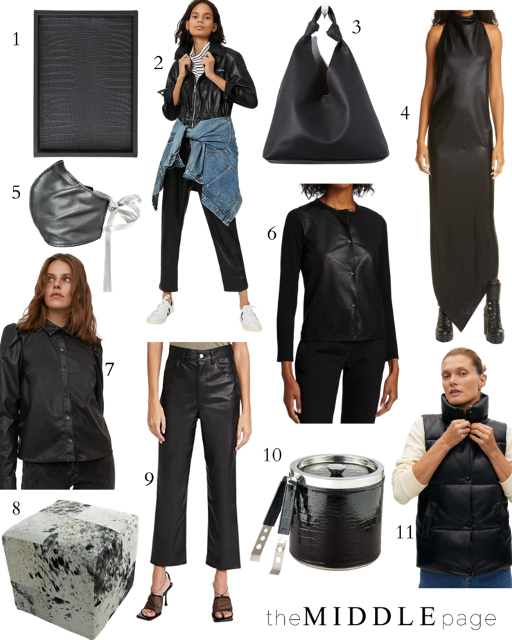 Black Leather Pieces