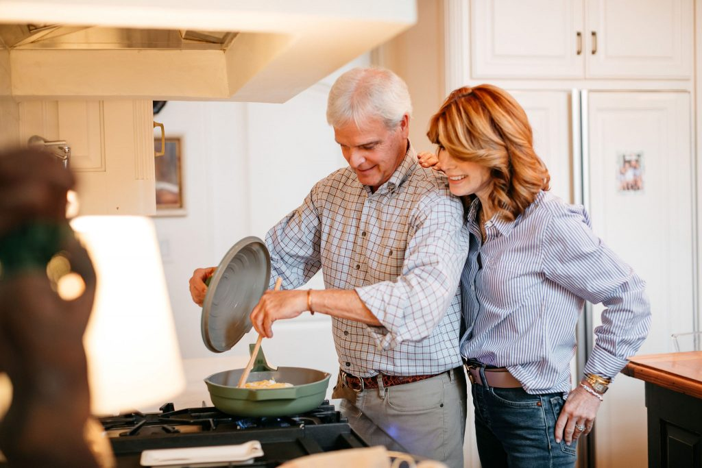 two people cooking and using the OUR PLACE ALWAYS PAN