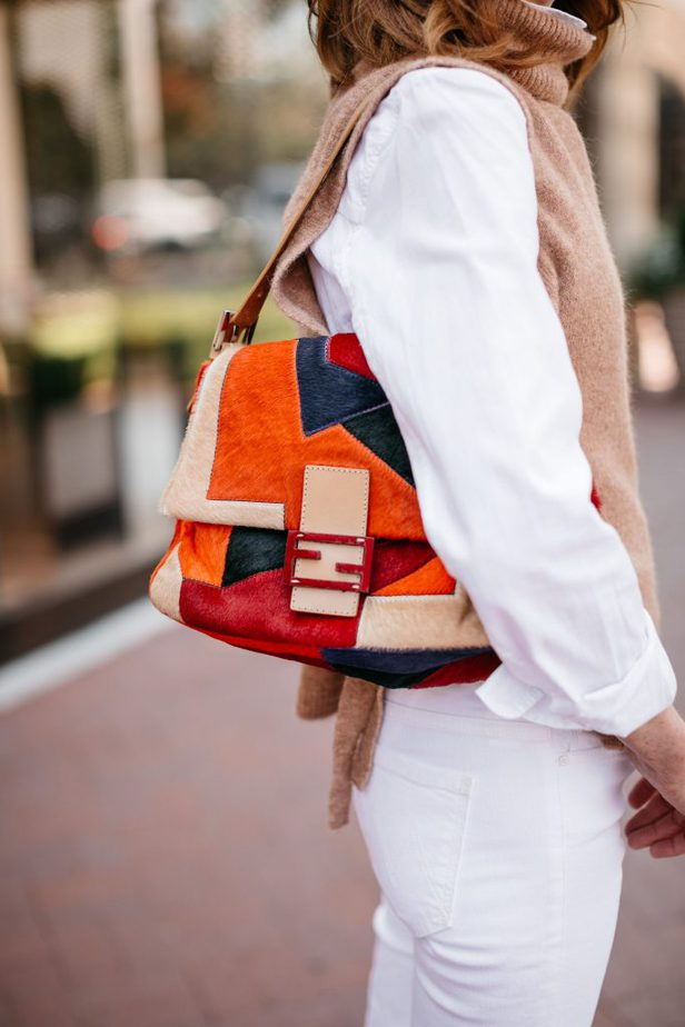 Fendi Patchwork Bag on Dallas Blogger