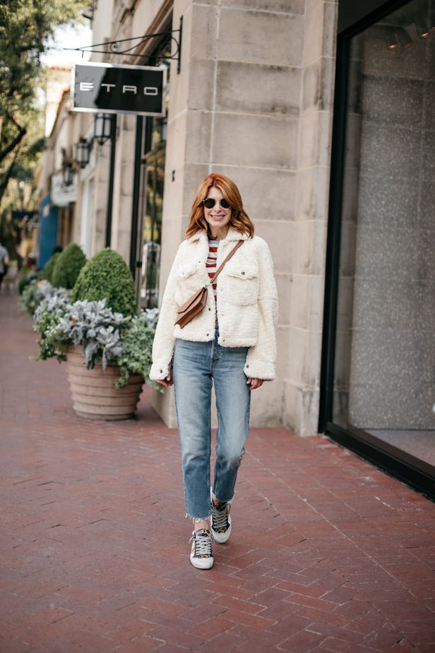 Dallas Blogger in Free People Teddy Jacket