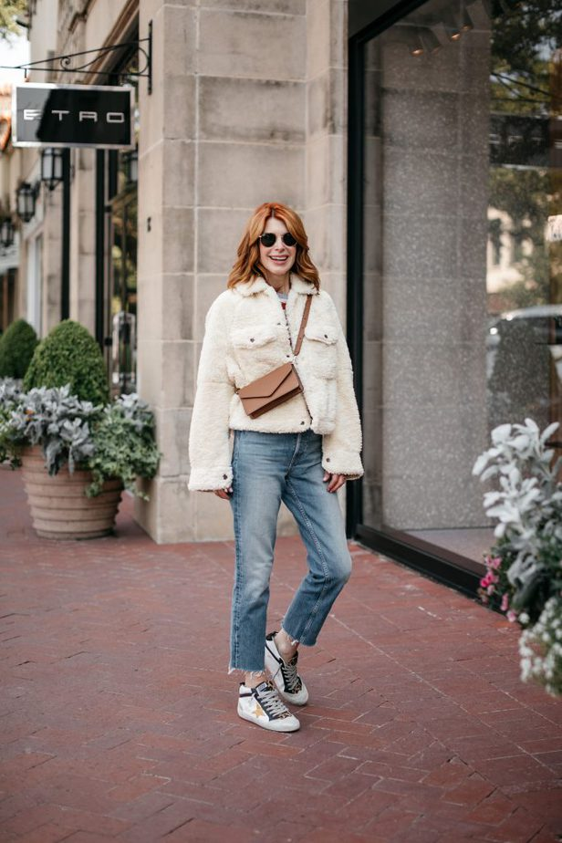 Free People Teddy Jacket on Dallas Blogger