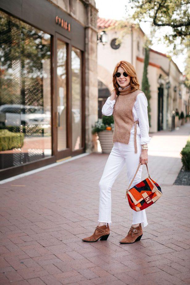 Side-Tie Sweater Vest on Dallas Blogger