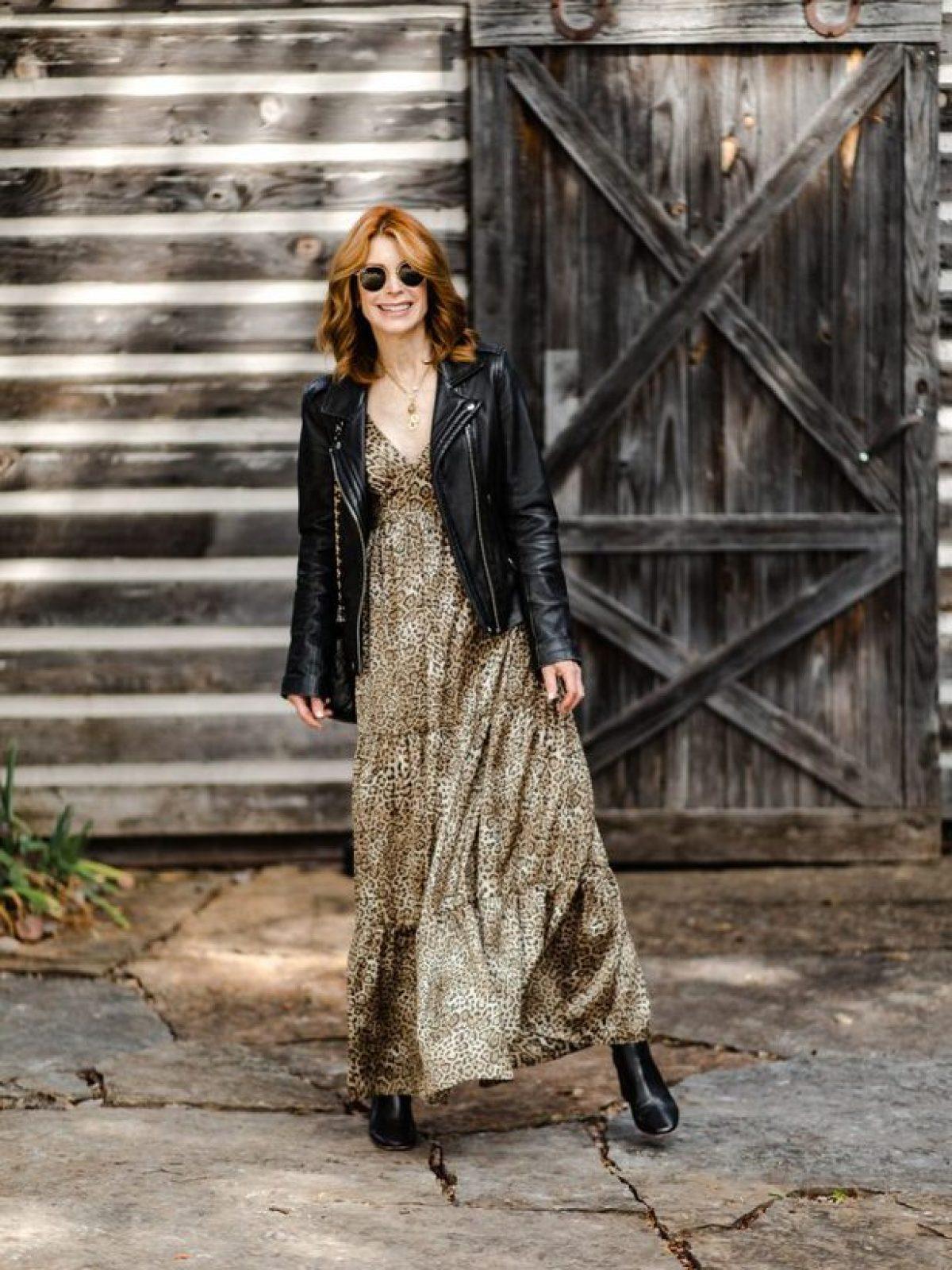 Gerard Darel Leopard Maxi Dress on Dallas Blogger