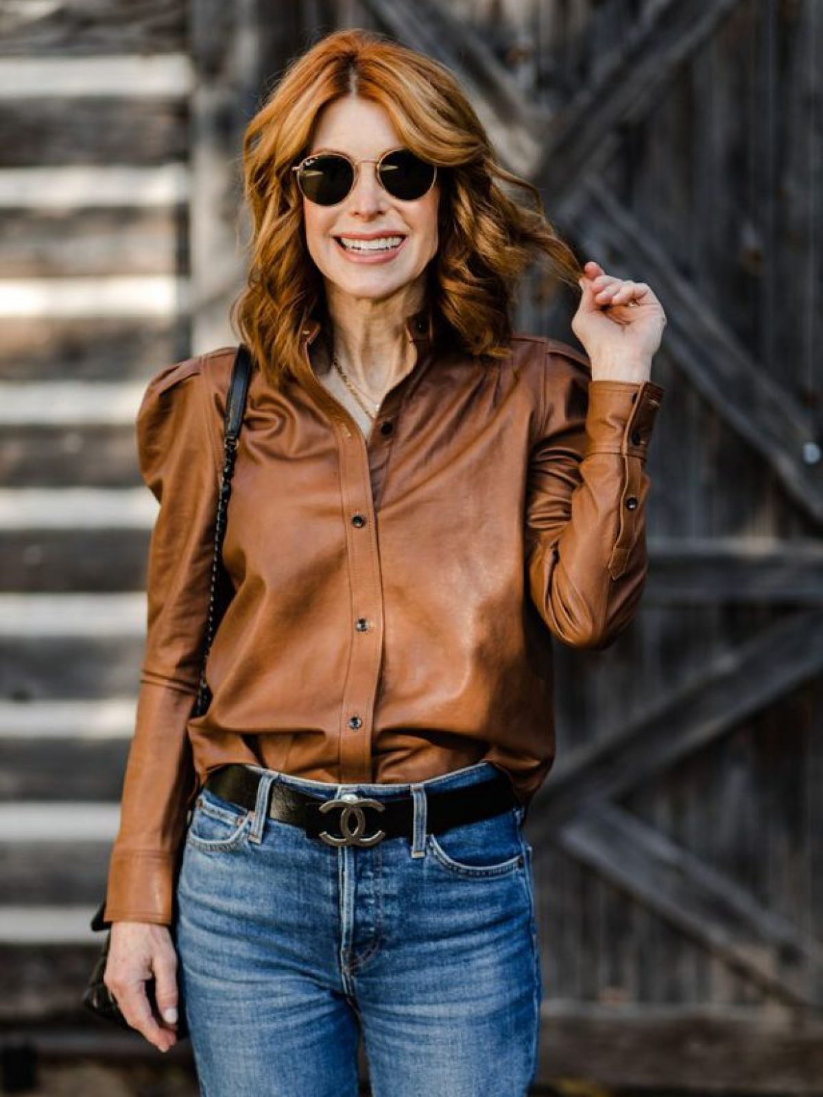FEMININE LEATHER SHIRT AND CYBER MONDAY SALES