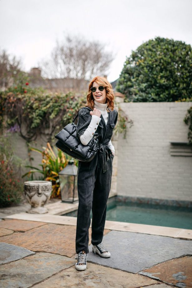 Mauby jumpsuit and sneakers