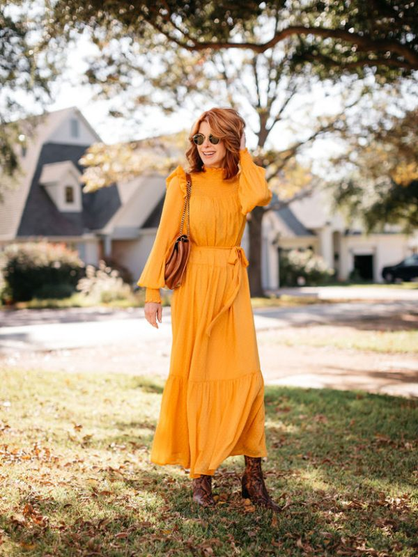 Optimistic Yellow smock dress