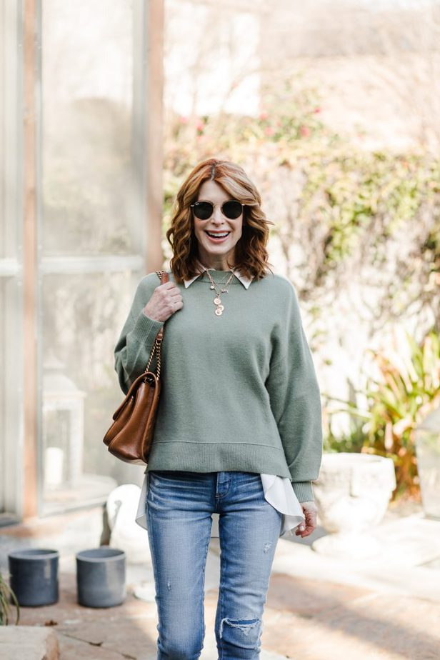 cashmere sweater outfit