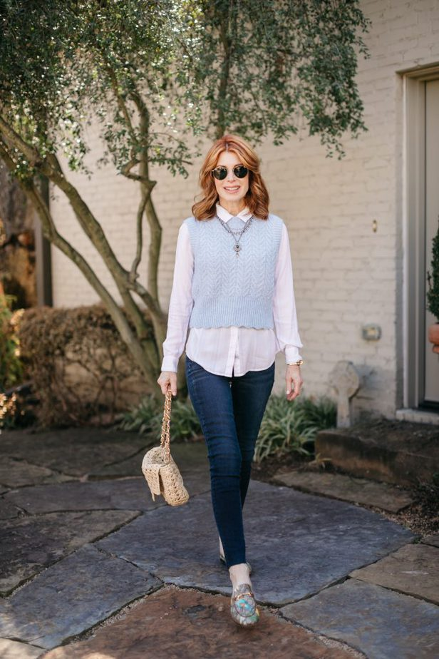 Bring Back The Sweater Vest worn by Dallas Blogger