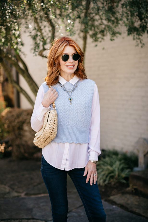 how to style sweater vest