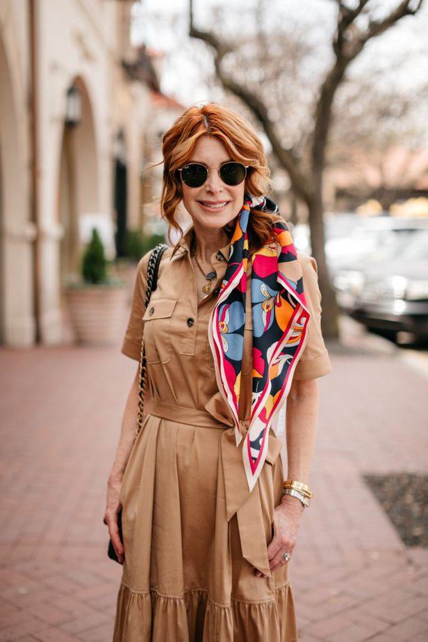 Dallas Blogger in Safari-Style Dress