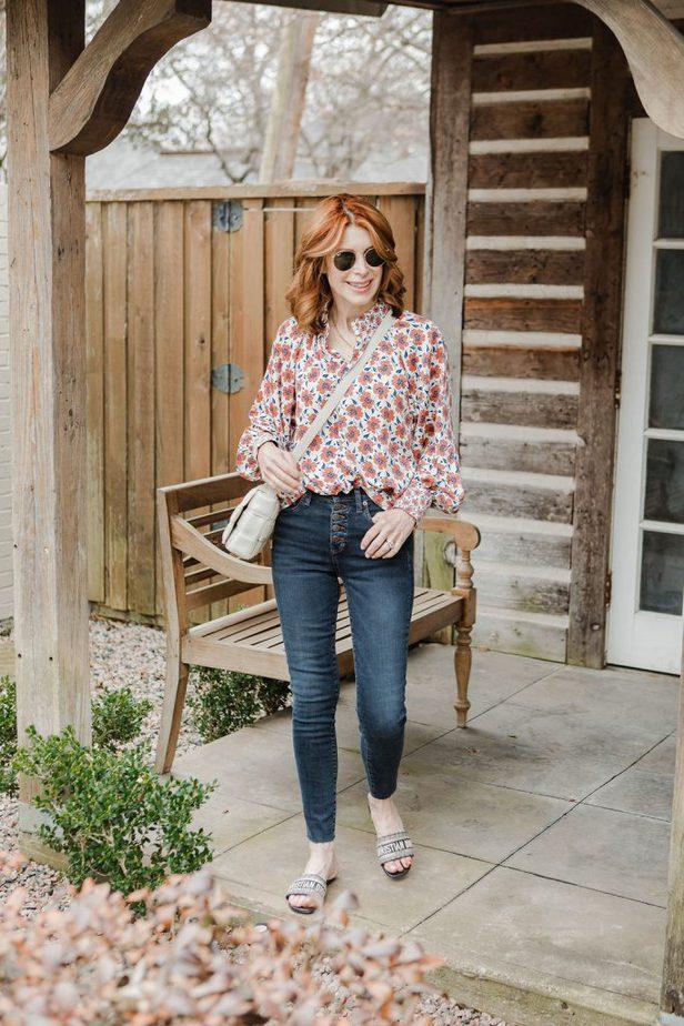 Folksy Floral Top on Dallas Blogger