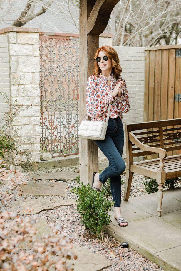 Folksy Floral Top Under $100 on Dallas Blogger