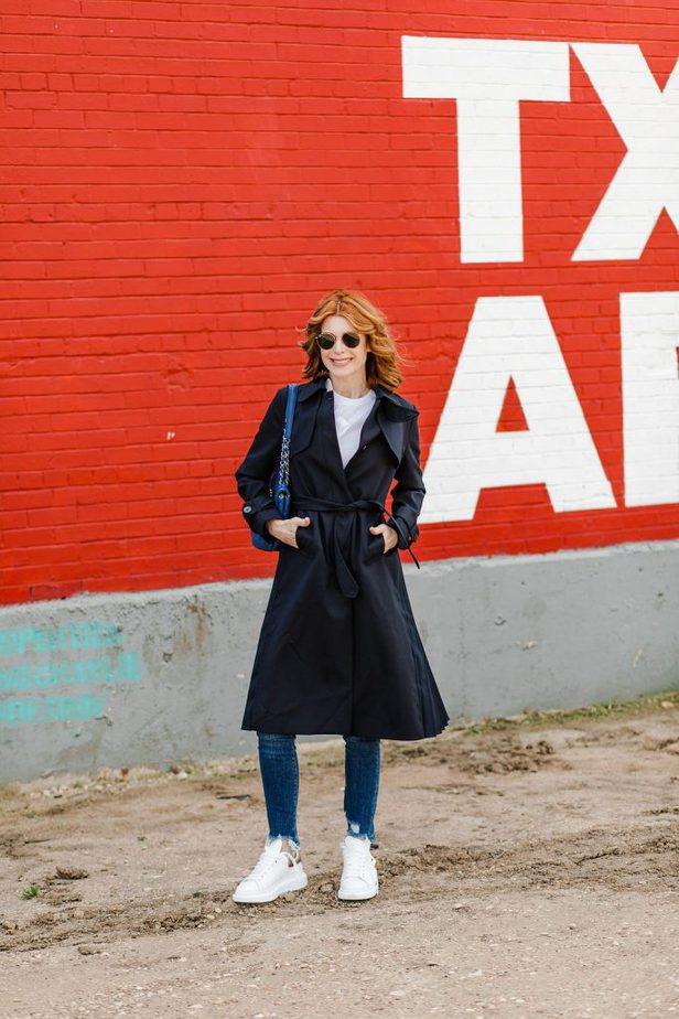 closed trench coat