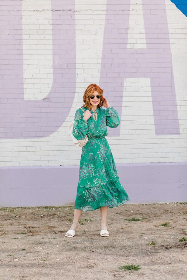 The Perfect Multi-Occasional Dress in Gorgeous Green on Dallas Blogger