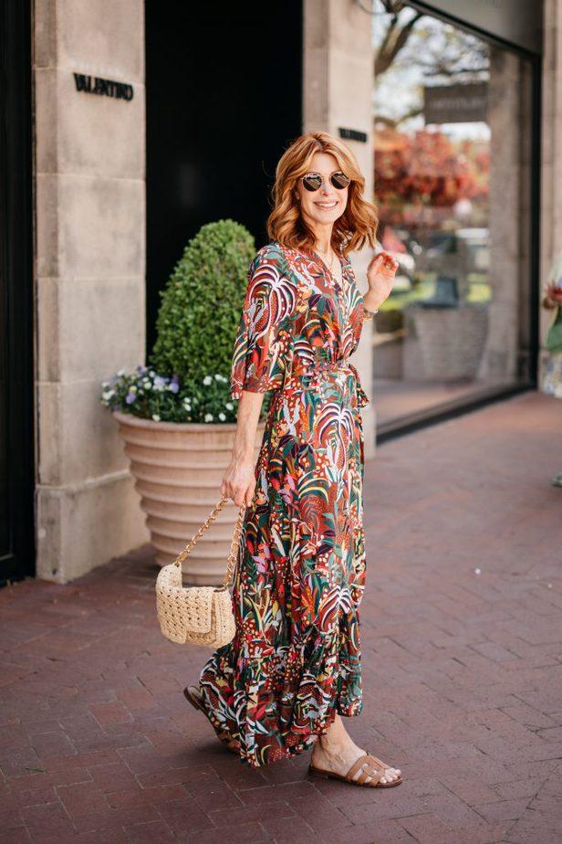 Dallas Blogger in Farm Rio Fun and Colorful Dress