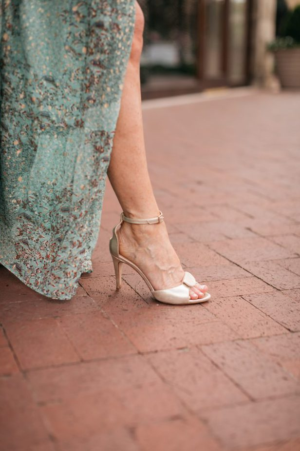 closeup details of a woman's footwear