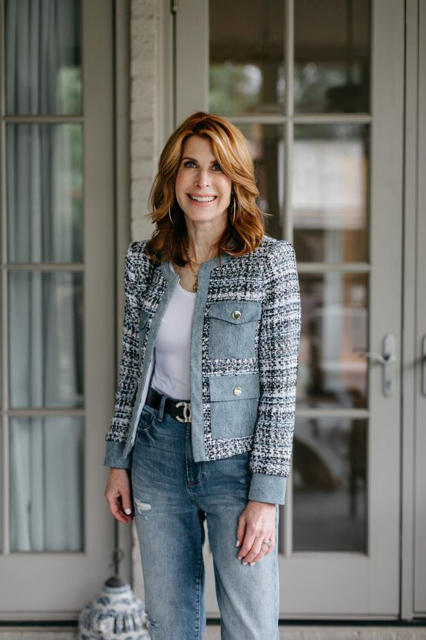 The Blues on Dallas Blogger tweed jacket