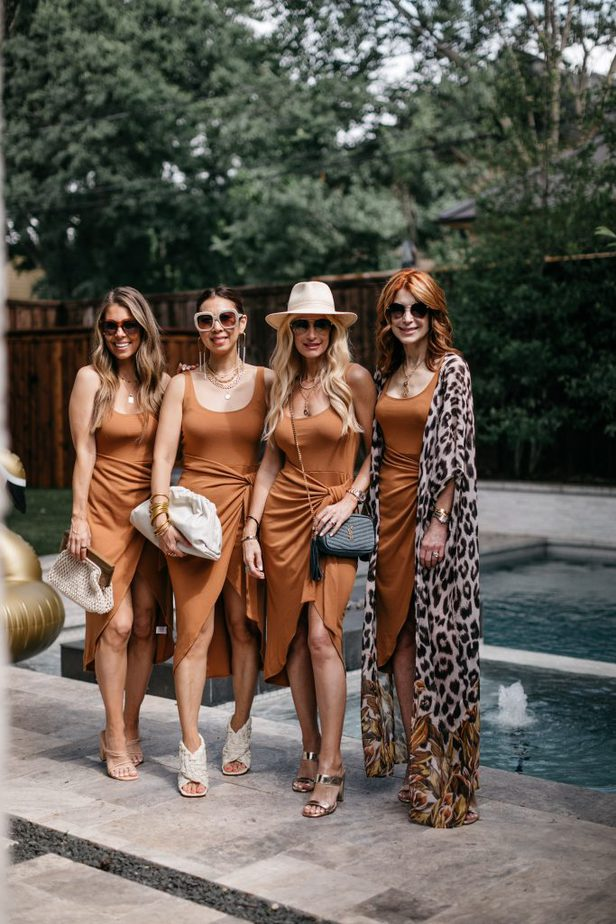 four women wearing date night dress