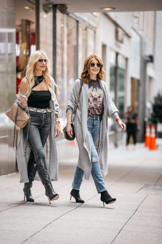 two fashionable women