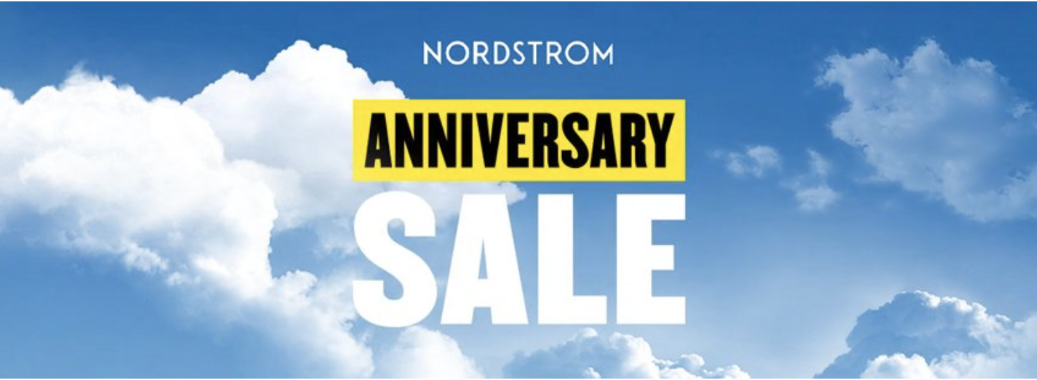 blog cover with clouds background and text Nordstrom Anniversary Sale