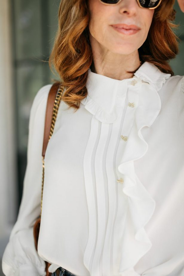 closer look of a white blouse