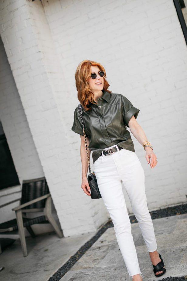 stylish woman walking