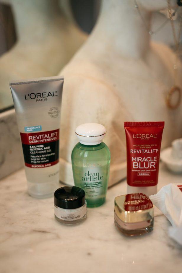 L'Oréal facial products